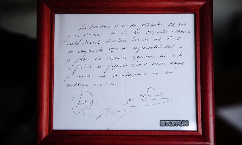 Messi's Napkin Contract